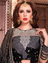 photo of Lenitive Fancy Fabric Designer Lehenga Choli in Black Color