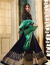photo of Georgette Floor Length Designer Embellished Anarkali Suit In Navy Blue