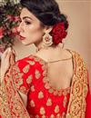 photo of Wedding Function Wear Embroidered Velvet Fabric Lehenga Choli In Red