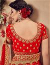 photo of Embroidered Velvet Fabric Red Wedding Wear Designer Lehenga Choli