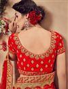 photo of Embroidered Velvet Fabric Red Wedding Wear Designer Lehenga Choli