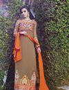 photo of Chikoo Georgette Long Length Salwar Suit