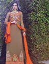 image of Chikoo Georgette Long Length Salwar Suit