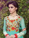 photo of Sky Blue Net Party Wear Long Salwar Kameez