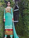 image of Sky Blue Net Party Wear Long Salwar Kameez