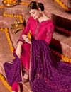 photo of Embroidered Satin Fabric Rani Function Wear Straight Cut Suit