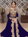 image of Georgette Fabric Blue Function Wear Embroidered Anarkali Suit