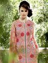 photo of Georgette Fabric Designer Salwar Suit In Pink Color With Embroidery