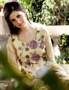 photo of Cream Color Designer Georgette Salwar Suit With Embroidery