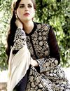 photo of Embroidered Chinon And Viscose Fabric Designer Salwar Suit In Black Color