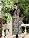 image of Embroidered Chinon And Viscose Fabric Designer Salwar Suit In Black Color