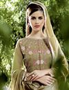 photo of Embroidered Georgette Fabric Designer Salwar Suit In Mehendi Green Color