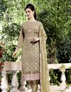 image of Embroidered Georgette Fabric Designer Salwar Suit In Mehendi Green Color