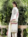photo of Georgette Fabric Designer Salwar Suit In Off White Color With Embroidery