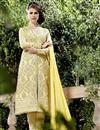 image of Yellow Color Designer Salwar Kameez In Georgette Fabric