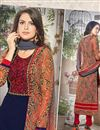 photo of Enchanting Navy Blue Designer Salwar Kameez