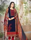 image of Enchanting Navy Blue Designer Salwar Kameez