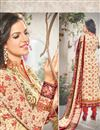 photo of Attractive Cream Color Georgette And Satin Salwar Suit