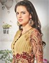 photo of Cream Color Riveting Party Wear Salwar Suit