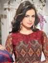 photo of Attractive Brown Color Georgette Salwar Suit