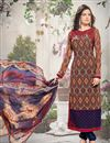 image of Attractive Brown Color Georgette Salwar Suit