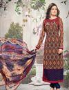 image of Brown Color Georgette Designer Salwar Suit