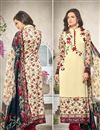 image of Attractive Cream Color Georgette And Satin Salwar Kameez