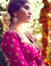 picture of Soothing Bhagalpuri Bridal Wear Lehenga Choli In Pink Color