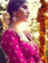 picture of Sumptuous Pink Color Bridal Lehenga Choli In Bhagalpuri Fabric