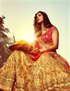 picture of Bridal Wear Stunning Beige Color Bhagalpuri Lehenga Choli