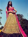 image of Bridal Wear Stunning Beige Color Bhagalpuri Lehenga Choli
