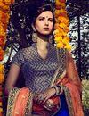 photo of Soothing Bhagalpuri Bridal Wear Lehenga Choli In Blue Color