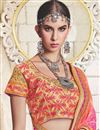 photo of Georgette Embellished Fancy Bandhej Saree In Pink And Salmon