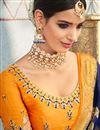 photo of Navy Blue Weaving Work On Banarasi Silk Party Wear Saree With Blouse