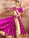 photo of Stunning Cotton Silk Traditional Weaving Work Magenta Color Festive Wear Saree