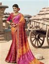 image of Georgette Fabric Multi Color Fancy Festive Wear Bandhani Printed Saree