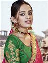 photo of Fancy Festive Wear Georgette Fabric Rani Color Bandhej Printed Saree