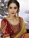 photo of Fancy Festive Wear Beige Georgette Fabric Bandhej Printed Saree