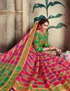 photo of Designer Function Wear Rani Color Saree In Art Silk With Weaving Work