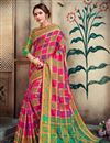 image of Designer Function Wear Rani Color Saree In Art Silk With Weaving Work