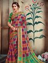 image of Purple Designer Art Silk Trendy Party Style Weaving Work Saree