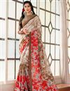 image of Casual Function Wear Printed Saree In Multi Color Art Silk