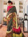 image of Multi Color Office Wear Art Silk Casual Printed Saree
