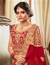 photo of Velvet Fabric Fancy Embroidery Work Bridal Wear Designer Lehenga Choli
