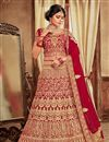 image of Velvet Fabric Fancy Embroidery Work Bridal Wear Designer Lehenga Choli