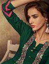 photo of Fancy Rayon Fabric Dark Green Festive Wear Long Kurti