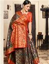 photo of Art Silk Fabric Navy Blue Festive Wear Saree With Weaving Work And Attractive Blouse