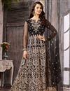 image of Festive Special Wedding Wear Fancy Embellished Black Long Anarkali Dress In Net