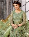 photo of Wedding Function Wear Designer Embroidered Sharara Top Lehenga In Green