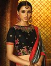 photo of Designer Art Silk Saree In Grey With Embroidery Designs